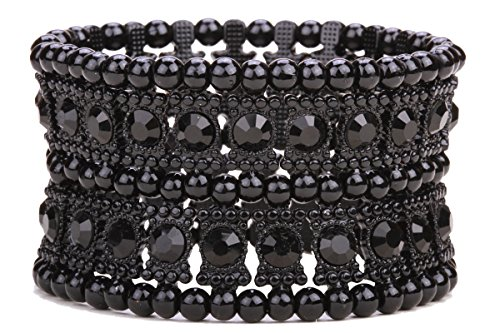 Black And Crystal Cuff - 9