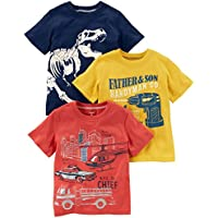 Carter's Boys' Toddler 3-Pack Short-Sleeve Graphic Tee,