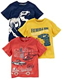 Kyпить Carter's Boys' Toddler 3-Pack Short-Sleeve Graphic Tee, Dino/Construction/Rescue, 4T на Amazon.com