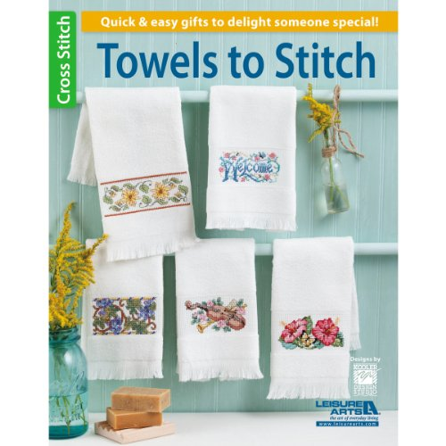 Leisure Arts Towels to Stitch Book - Kitchen Towel Patterns
