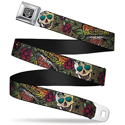 Buckle-Down Seatbelt Belt - Death Before Dishonor CLOSE-UP