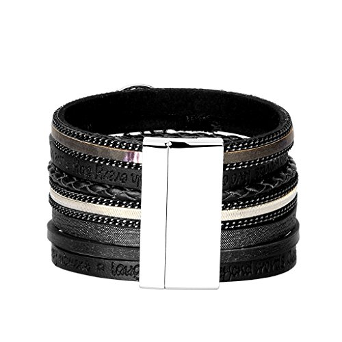 JAOYU Leather Bracelet for Women Pearl Bracelets for Girls Cuff Bangle Handmade Jewelry - Sister, Mother Gifts - with Alloy Buckle by JAOYU (Image #2)