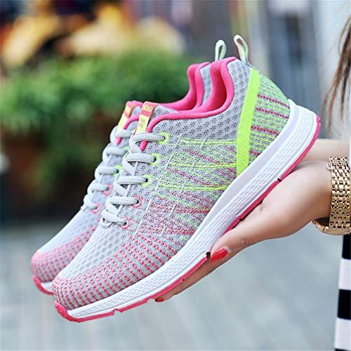 Jogging Estate Scarpe Running Scarpe atletiche Qianliuk Grigio Donna da Sneakers Maglia Passeggio I6wt1q0