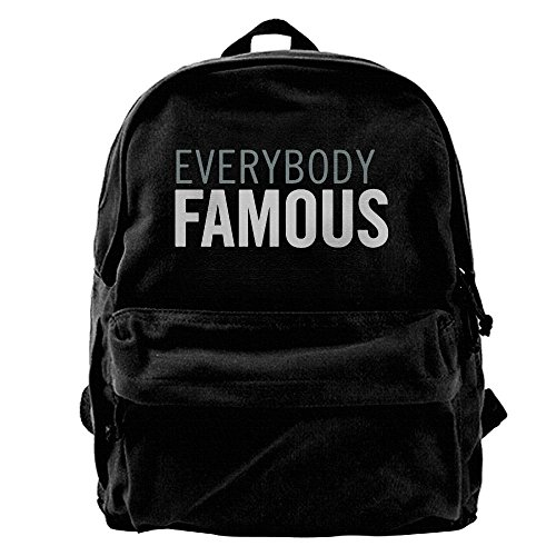 EVERYBODY FAMOUS Unisex Classic Water Resistant School Rucksack Travel Backpack Laptop