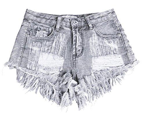 2017 Vogue Hot Shorts Women Trendy Denim Shorts Holes Rivet Cowboy Loose - In Mall Tx Houston