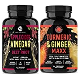 Angry Supplements Apple Cider Vinegar + Beetroot and Turmeric & Ginger Capsules (2-Pack Bundle), All-Natural Weight Loss Detox Remedy, Nitric Oxide Booster, Boost Metabolism + Energy (120 Count) For Sale