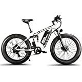 Extrbici MTB Bicicleta Eléctrica Híbrida de Montaña para Hombre 1000W 48V 13A Con Puerto USB y Puerto de Carga con Suspensión Completa Inteligente LCD y Neumático Rueda Grande 26 x 4.0