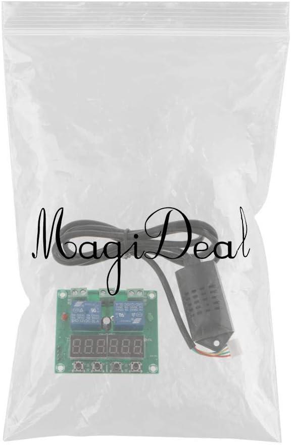 Sharplace Modulo Regolatore Temperatura umidit/à XH-M452 Plastica Verde Nero