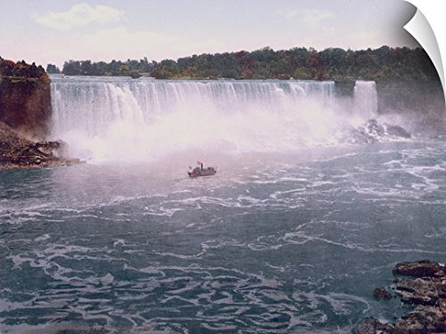 The Henry Ford Wall Peel Wall Art Print entitled Niagara. American Falls from Canadian Shore - Niagara Ford Falls