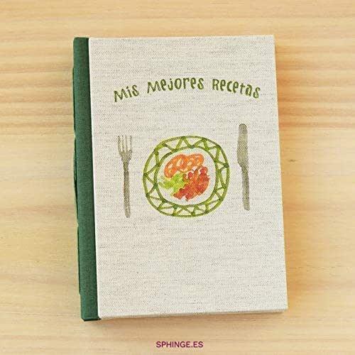 Sphinge - Cuaderno de recetas en blanco para escribir A6
