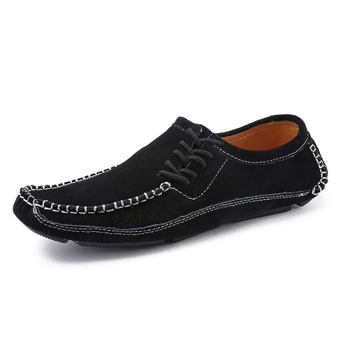 FHTD Zapatos De Hombre Guisantes Mocasines Y Slip-ONS Zapatos Casuales Zapatos De Barco Zapatos De Conducción: Amazon.es: Ropa y accesorios