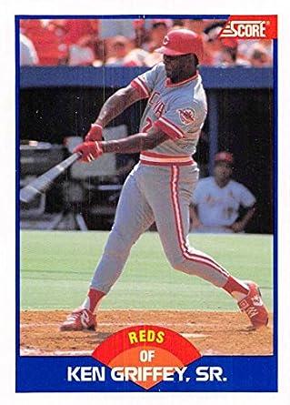 3f12679e05 Amazon.com: 1989 Score Baseball #609 Ken Griffey Sr. Cincinnati Reds  Official MLB Trading Card: Collectibles & Fine Art