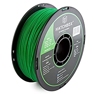 HATCHBOX ABS 3D Printer Filament, Dimensional Accuracy +/- 0.05 mm, 1 kg Spool, 1.75 mm, Green by HATCHBOX