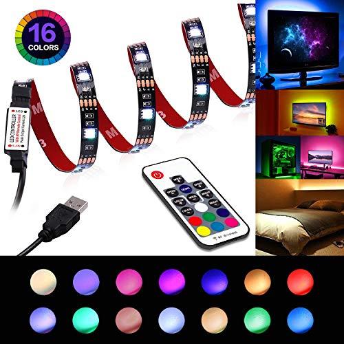 LED Strip Lights - USB Led TV Light Strip with Remote - TV Backlight 6.56ft for 40-60in TV