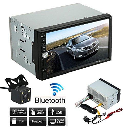 Auto Stereo MP5Player, lacaca Doppel 2DIN Auto Stereo MP5Player Radio Bluetooth USB AUX + Kamera Einparkhilfe
