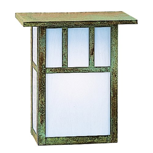 Arroyo Craftsman Sconce - Arroyo Craftsman HS-8DTWO-MB Huntington Sconce with Roof and Double T-Bar Overlay, 8