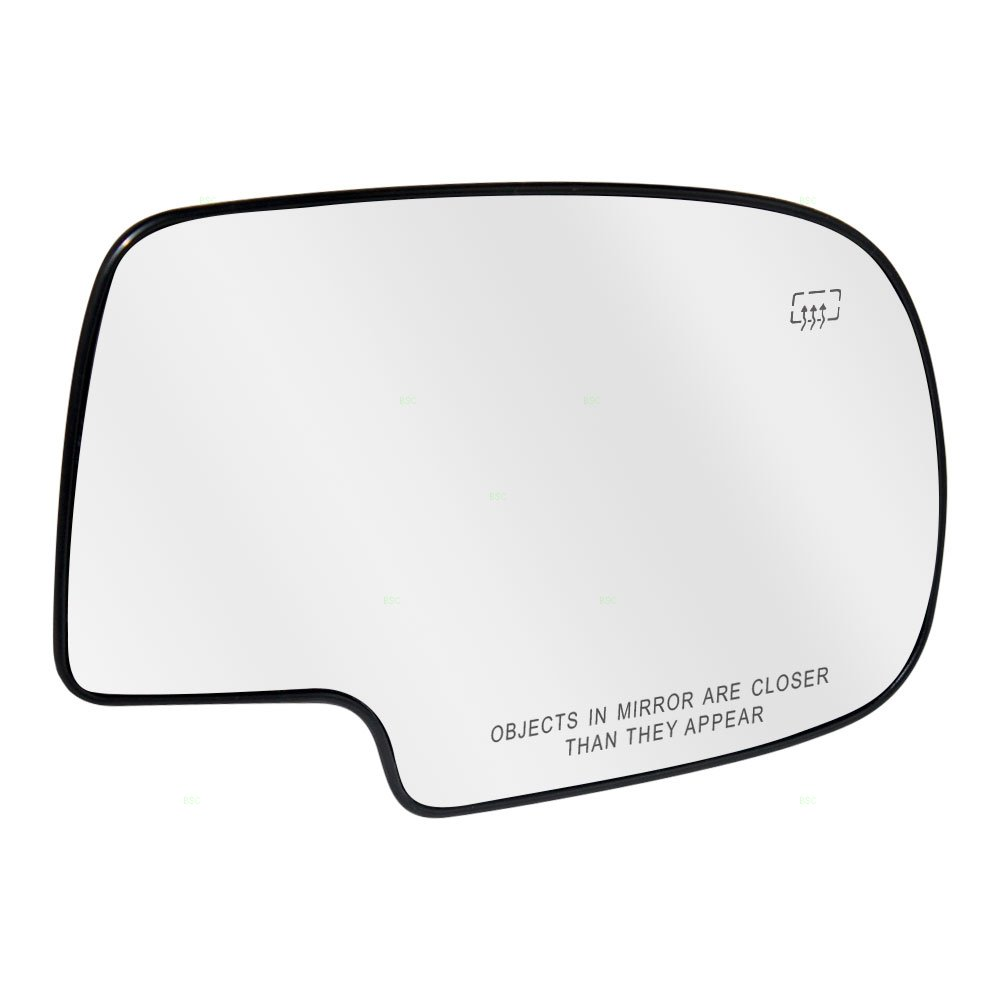 Passengers Power Side View Mirror Glass and Base Heated Replacement for Chevrolet Cadillac GMC Pickup Truck SUV 88986363 Auto Parts Avenue