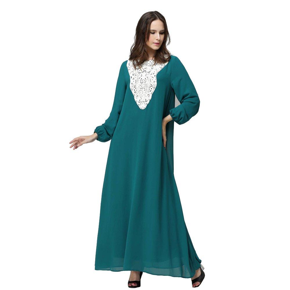 XFentech Muslim Abaya Dubai kleider für Damen islamischen Kleid ...