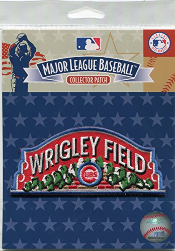 MLB Licensed Chicago Cubs Wrigley Field Official Patch 5x2 1/2 2016 WS (Wrigley Field Chicago Cubs)