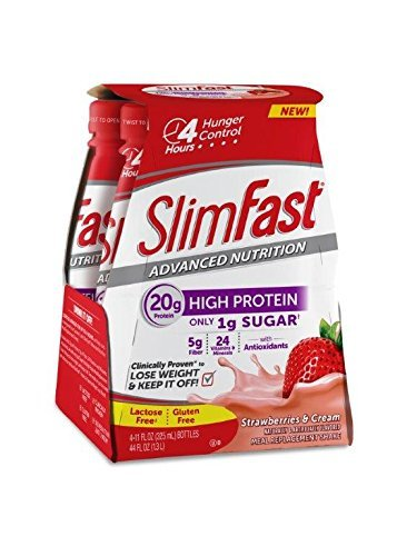 Slimfast Ready to Drink Shakes - Strawberries & Cream - 11 oz - 4 ct