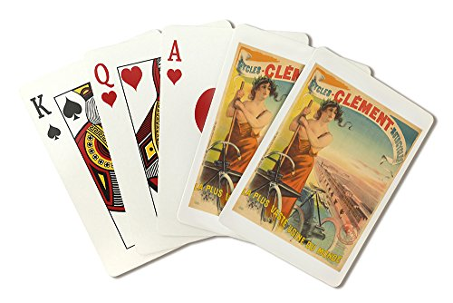 Clement - Cycles - Motorcycles Vintage Poster (artist: Pal Jean De Paleologue) France c. 1900 (Playing Card Deck - 52 Card Poker Size with Jokers)