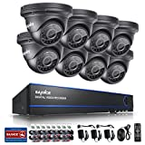 Cheap SANNCE 8CH 1080P AHD Security DVR Recorder and (8) HD 1080P Outdoor Fixed Surveillance Cameras, Super night vision,Motion Detection, IP66 Weatherproof Housing No HDD