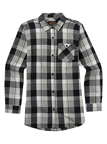 - Burton Lagoon Long Sleeve Woven, True Black Plaid, Medium