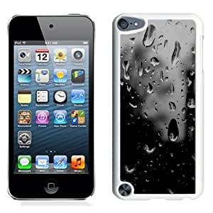 Fashion Custom Designed Cover Case For iPod Touch 5 Phone Case With Black And White Raindrops On Glass_White Phone Case