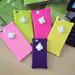 """YHC Color Pink Baymax Silicone Soft Gel Case caso Cover For iPhone 4 4s 5 5s 6 4.7""""/Plus 5.5"""""""