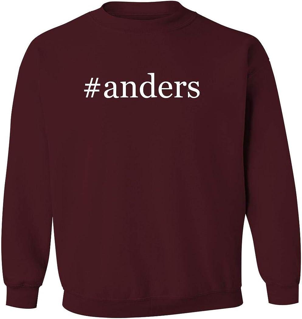 #anders - Men's Hashtag Pullover Crewneck Sweatshirt, Maroon, Large 51JdRJytHnL