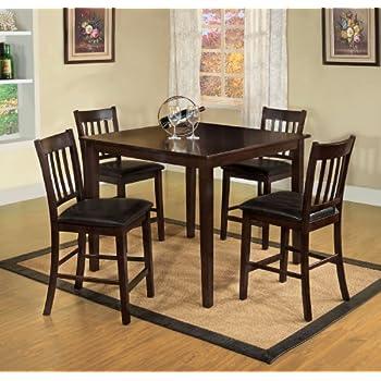 Amazon.com - Furniture of America Letta 5-Piece Counter