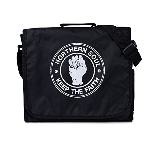 Northern Soul Record Bag - Vintage Retro Style DJ LP Vinyl Records Messenger Shoulder Bag (One - Record Dj Shoulder