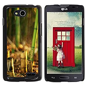 Paccase / SLIM PC / Aliminium Casa Carcasa Funda Case Cover - Nature Beautiful Forrest Green 135 - LG OPTIMUS L90 / D415