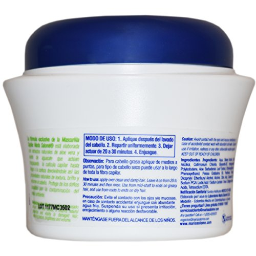 Amazon.com: Maria Salome Hair Mask Revitalizing Mascarilla Capilar Revitalizadora 350ml 11.8oz: Health & Personal Care