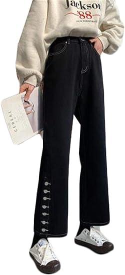 [セイーワイ] ロングパンツ あったか レディース 裏起毛パンツ デニム ワイドパンツ ハイウェスト イージーパンツ ゆったり カジュアル スリム 体型カバー