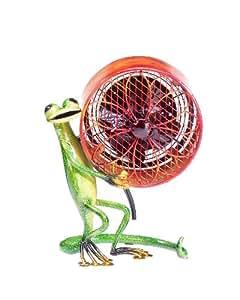Deco Breeze Decorative Figurine Table Fan, Gecko, 9-1/2-Inch by 7-1/2-Inch