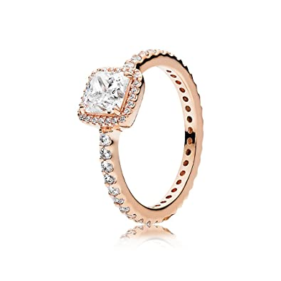 ee60b7798 Amazon.com: PANDORA Timeless Elegance Ring, PANDORA Rose, Clear Cubic  Zirconia, Size 7: Jewelry