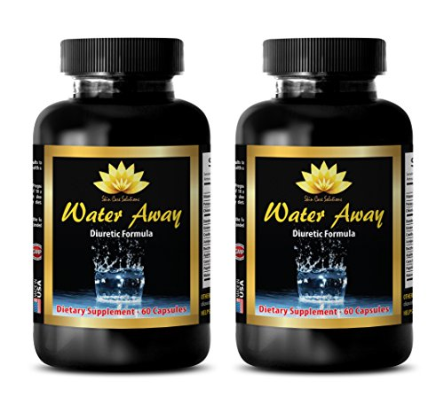 Fat loss - WATER AWAY PILLS NATURAL FORMULA 700MG - Potassium chloride - 2 Bottle (120 Capsules) by Skin Care Solution