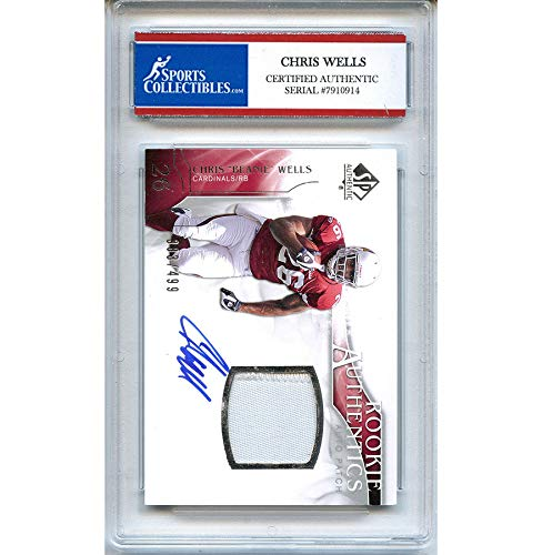 Chris Wells Autographed Signed 2009 Upper Deck Jersey Trading Card - Certified Authentic ()