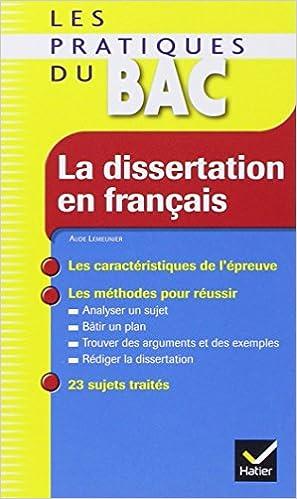 Aide a la dissertation en franais