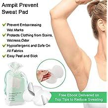 Disposable Underarm Dress Shields - COSCOD Pure Pads Antiperspirant Adhesive Underarm Pads,100PCS Armpit pad Comfortable & Discreet & Sweat Free & Odor Free
