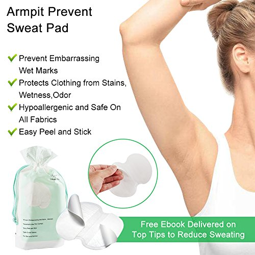 Disposable Underarm Dress Shields - COSCOD Pure Pads Antiperspirant Adhesive Underarm Pads,100PCS Armpit pad Comfortable & Discreet & Sweat Free & Odor Free