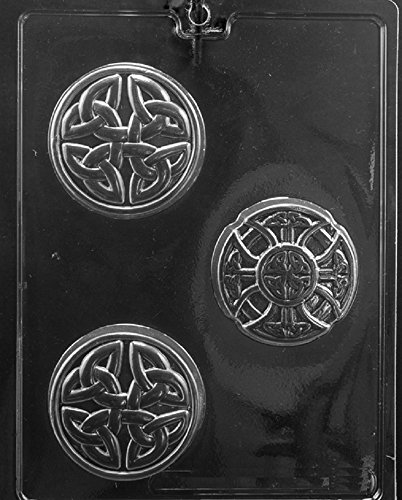 Grandmama's Goodies M240 Celtic Soap Bar Chocolate Candy Soap Mold with Exclusive Molding - Celtic Candy