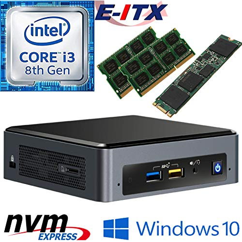 Intel NUC8I3BEK 8th Gen Core i3 System, 16GB Dual Channel DDR4, 240GB M.2 PCIe NVMe SSD, Win 10 Pro Installed & Configured by E-ITX ()