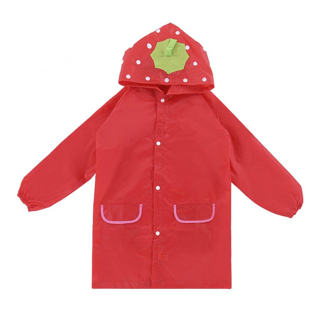 Fakeface Bambini cappotto di pioggia per bambini e bambine, impermeabile, colore: Lovely Cartoon Cute con cappuccio impermeabile giacca antipioggia per bambini di età 345678anni