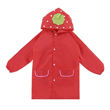 2a91bebde Kids Rain Coat for Children Boys Girls Lovely Cartoon Plain Colour ...
