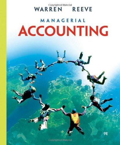 Read Online Managerial Accounting: 9th (nineth) Edition pdf epub