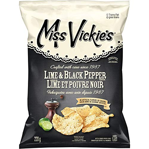 (Miss Vickie's Kettle Cooked Lime & Black Pepper Potato Chips)