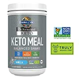 Garden of Life Dr. Formulated Keto Meal Balanced Shake – Vanilla Powder, 14 Servings, Truly Grass Fed Butter & Whey Protein Plus Probiotics, Non-GMO, Gluten Free, Ketogenic, Paleo Meal Replacement
