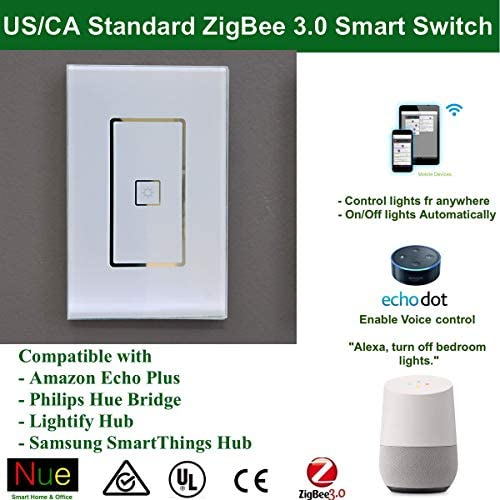 110 240v Smart Zigbee Light Switch Compatible With Echo Plus And Compatible Zigbee Hub Or Bridge To Control Normal Lights Home Automation And Voice Control Amazon Ca Tools Home Improvement